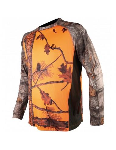 Tee-Shirt manches Longues Camo Orange...