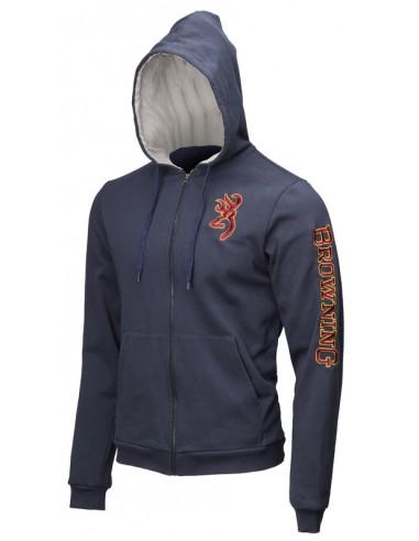 Sweatshirt Snapshot Bleu - BROWNING